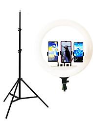 Недорогие -18-дюймовый прямая трансляция кольцевой подсветки tiktok youtube с регулируемой яркостью заливки светом 480 светодиодов 60 Вт для якорной фотографии красоты с тремя держателями телефона стенд