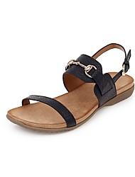 cheap -Women's Sandals Flat Sandal 2020 Summer Flat Heel Open Toe Casual Daily Rivet / Buckle Solid Colored PU Almond / Black / Pink