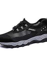 Недорогие -Муж. Лето На каждый день Повседневные на открытом воздухе Спортивная обувь Для плавания / Дышащая спортивная обувь Сетка Черный / Темно-синий / Серый