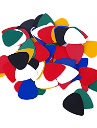 cheap -Guitar Picks ABS Guitar Colorful 0.46mm Random Color for Acoustic and Electric Guitars Musical Instrument Accessories 100 pcs