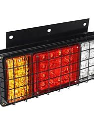 cheap -2PCS LED Tail Brake Lights Rear Turn Lamp for 24V Trailer Truck Caravans Boat