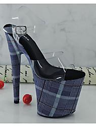 cheap -Women's Heels Summer Stiletto Heel Peep Toe Daily PVC Blue