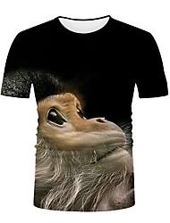 abordables -Homme Graphique Animal Tee-shirt Basique Elégant Quotidien Sortie Noir