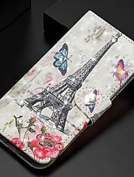 cheap -Case For Samsung Galaxy A51/ Galaxy A20e / Galaxy Note 10 Plus Wallet / Card Holder / Rhinestone Full Body Cases Eiffel Tower PU Leather For Galaxy A71/A10S/A20S/M30S/A2 Core/A10E