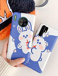 olcso -Case Kompatibilitás Huawei Huawei P20 / Huawei P20 Pro / Huawei P30 Ütésálló / Állvánnyal Fekete tok Rajzfilm TPU