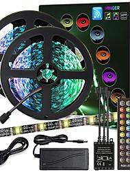 cheap -ZDM High-Quality Black PCB 10M(2*5M) Music Timing Synchronous Control Flexible Light Bar 5050 RGB  IR 40 Key Controller with12V 4A Adapter Kit