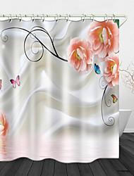 Недорогие -цифровая печать занавески для душа водонепроницаемый полиэстер&усилитель; нержавеющая медная пряжка без загрязнения цифровой печати