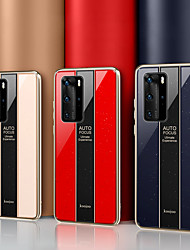 cheap -Luxury Mirror Plexiglass Shockproof Protection Case For Huawei P40 Pro P40 Lite Y7 2019 P30 Lite Y9 2019 P20 Lite 2019 P30 Pro Mate 30 Pro Mate 20X Mate 20 Pro Plating Soft TPU Edge Full Protect
