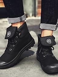 cheap -Men's Summer Outdoor Boots Canvas Non-slipping Black / Khaki / Gray