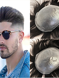 Недорогие -Муж. Натуральные волосы Накладки для мужчин Прямой Лучшее качество / новый / Горячая распродажа / Природные волосы