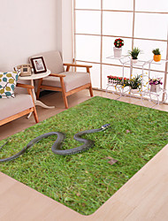 cheap -Meadow Snake Print High Quality Memory Foam Bathroom Carpet and Door Mat Non-slip Absorbent Super Comfortable Flannel Bathroom Carpet Bed Rug