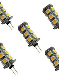 cheap -5pcs 2 W LED Bi-pin Lights 200 lm G4 18 LED Beads SMD 5050 Warm White White 12 V