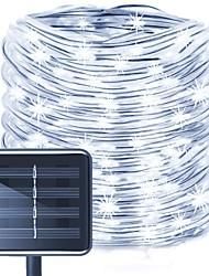 Недорогие -12м Гирлянды 100 светодиоды EL 1 монтажный кронштейн 1 комплект Тёплый белый / Холодный белый / RGB Рождество / Новый год Работает от солнечной энергии Солнечная энергия