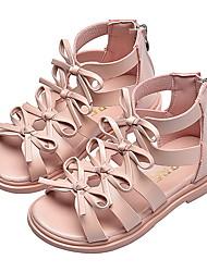 Недорогие -Девочки Удобная обувь Полиуретан Сандалии Мартен Сандалии Маленькие дети (4-7 лет) Черный / Розовый / Бежевый Лето