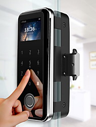 cheap -Xiaoxi Glass Door Fingerprint Lock Office Smart Glass Door Lock Combination Lock Single Open Double Open Sliding Door