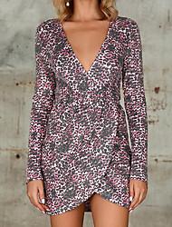 Недорогие -женская леопардовая пленка с запахом обтягивающая юбка мини-повседневная одежда mm0208