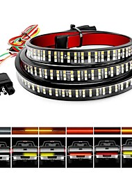 cheap -12V 60 Inch 72SMD Sequential Amber Red LED Flashing Grill Strobe Lights Waterproof Bar Turn Signal Warning Recovery Car Breakdown