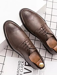 cheap -Men's Spring & Summer Classic Daily Oxfords PU Brown / Black