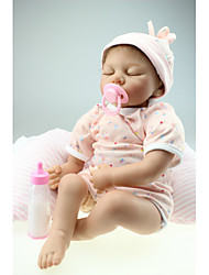 "cheap -NPKCOLLECTION 22 inch NPK DOLL Reborn Doll Baby Reborn Baby Doll Newborn lifelike Cute Hand Made Child Safe 22"" with Clothes and Accessories for Girls' Birthday and Festival Gifts / Non Toxic / Kid's"