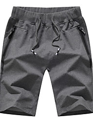 cheap -Men's Sporty Basic Plus Size Daily Going out Slim Cotton Sweatpants Shorts Pants - Solid Colored Sporty Drawstring Breathable Spring Summer Black Army Green Light gray US32 / UK32 / EU40 / US34