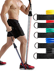cheap -Resistance Band Set Exercise Resistance Bands 11 pcs 5 Stackable Exercise Bands Door Anchor Legs Ankle Straps Sports TPE Home Workout Pilates CrossFit Heavy-duty Carabiner Strength Training Muscular