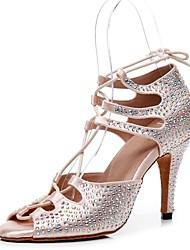 cheap -Women's Sandals Summer Stiletto Heel Open Toe Daily PU Champagne