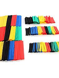 Недорогие -164 шт. Многоцветная экологически чистая огнеупорная термоусадочная трубка костюм сумки водонепроницаемые стены термоусадочная трубка сочетание
