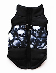 cheap -Cat Dog Coat Vest Puppy Clothes Bowknot Keep Warm Outdoor Winter Dog Clothes Puppy Clothes Dog Outfits Breathable Black / Red Blue / Yellow White / Red Costume for Girl and Boy Dog Cotton XS S M L XL
