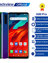 "cheap -Blackview A80 pro 6.4 inch "" 4G Smartphone ( 4GB + 64GB 8 mp 4000 mAh mAh )"