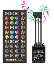cheap -Double outgoing line Infrared Timed Music Controller - LED Music Controller 40 keys IR Remote Controller Sound Sensor Controller for RGB Strip Lights DC12V