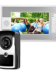 cheap -7 Inch Wire Video Door Phone Home Intercom System IR Camera with Unlock Monitor Function P812M11
