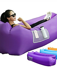 cheap -Air Sofa Inflatable Sofa Sleep lounger Outdoor Portable Fast Inflatable Anti-Air Leaking Design Terylene 260*70 cm Beach Camping Traveling Spring Summer Blue Violet Burgundy