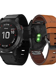 cheap -Smartwatch Band for Garmin Fenix 6 / 6pro / Fenix5 / 5 Plus / Forerunner 945 /935 /S60 Leather Loop Genuine Leather Sport Business Band High-end Fashion Comfortable Health Wrist Straps 22MM