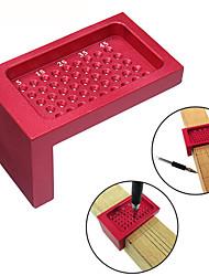 cheap -T50 L-type Ruler Measuring Tool Scriber Woodworking Hole Positioning Crossed Gauge Aluminum Alloy Ruler for Carpenter