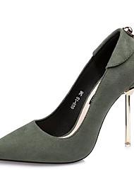 cheap -Women's Heels Summer Stiletto Heel Closed Toe Daily PU Black / Red / Green