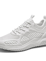 cheap -Men's Spring & Summer Sporty Athletic Trainers / Athletic Shoes Running Shoes Mesh / Elastic Fabric Non-slipping Black / Beige