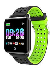 رخيصةأون -M19 Smart watch للجنسين سمارت ووتش الأساور الذكية Android iOS بلوتوث رصد معدل ضربات القلب أصفر فاتح رمادي داكن التحكم بالاعلام لون القهوة