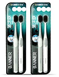 Недорогие -4шт ультра-тонкие супер мягкие зубные щетки портативные экологически чистые путешествия на открытом воздухе использовать зубы по уходу за зубами чистка полости рта инструменты для ухода за полостью