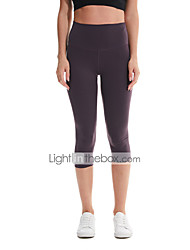 cheap -Women's High Waist Yoga Pants Capri Leggings Butt Lift 4 Way Stretch Breathable Black Purple Red Nylon Non See-through Gym Workout Running Fitness Sports Activewear High Elasticity / Moisture Wicking