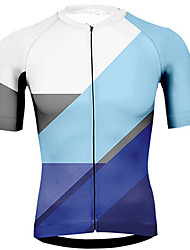 cheap -21Grams Men's Short Sleeve Cycling Jersey Pink Orange Blue Bike Jersey Top Mountain Bike MTB Road Bike Cycling UV Resistant Breathable Quick Dry Sports Clothing Apparel / Stretchy