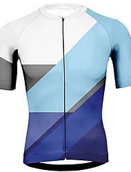 ieftine -21Grams Bărbați Manșon scurt Jerseu Cycling Roz Portocaliu Albastru Bicicletă Jerseu Topuri Ciclism montan Ciclism stradal Rezistent la UV Respirabil Uscare rapidă Sport Îmbrăcăminte / Strech