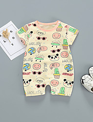 cheap -Baby Boys' Basic Rabbit Print Short Sleeves Romper Yellow