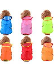 cheap -Dog Rain Coat Solid Colored Waterproof Outdoor Dog Clothes Red Blue Pink Costume Baby Small Dog Nylon XS S M L XL