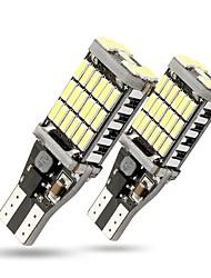 Недорогие -2 шт. T15 w16w 1156 1157 45 smd светодиодные резервные фонари заднего хода автомобиля лампы указателя поворота лампы canbus без ошибок 800lm белый
