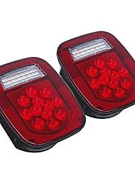 cheap -2PCS LED Tail Lights Brake Reverse Turn Signal Lamp For Jeep Wrangler TJ CJ 76-06