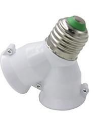 cheap -E27-2E27 Base LED Light  Lamp Bulb Fireproof Holder Adapter Converter Universal Light Converter Socket Change *1pc