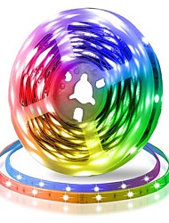 cheap -LED Strip Lights SMD 5050 RGB Tiktok Lights LED Tape Multi-colors 300 LEDs 10mm Non-waterproof Light Strips Color Changing Pack of 5m Strips 12V