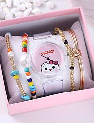 cheap -Women's Quartz Watches Quartz Cartoon Chronograph Analog Blushing Pink / One Year / Silicone / One Year
