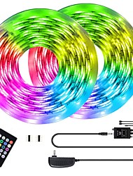 cheap -KWB LED Light Strips RGB Tiktok Lights with Music Sync-Chase Effect Dream Color Music Lights 10M 600LED 3528SMD Rope Lights with IR Remote for Home Party Bedroom DIY Party with EU US AU UK Power Suppl