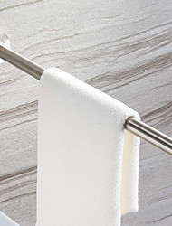 cheap -New Design Multifunction Brushed Steel Towel Bar Clothes Airing Pole Hanger Towel Rack Ring High Quality CG01